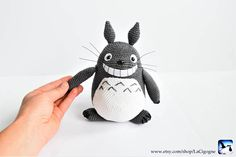 Totoro amigurumi toy. Amigurumi crochet toy. Handmade toy. #totoro