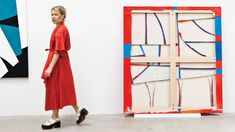 Since her breakthrough at the 2010 Whitney Biennial, Sarah Crowner's bold, color-saturated work has been blurring the lines between art and craft. Art Google, Art History, Arts And Crafts, Painting, Color, Google Search, Design, Abstract Art, Artists