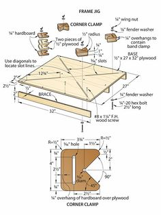 """Adjustable picture frame jig... Looks like a """"Winner!"""" A """"Easy"""" build!  Multiple size Jigs for, Small, Medium, and Large frames, would be a, """"Shop Winner!"""""""