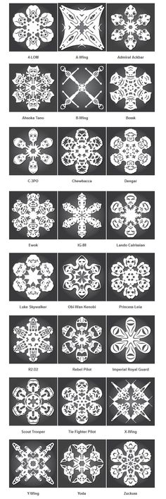 Designer Anthony Herrera has released a brand new set of D.I.Y. Star Wars snowflake templates, free for download, print and cutting fun just in time for the holiday season!