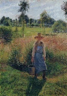 The Gardener, Afternoon Sun, Eragny, 1899. Camille Pissarro