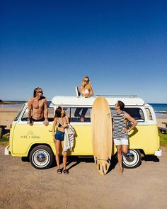 Win a Kombi Escape down the Great Ocean Road. A behind the scenes look from our photoshoot. Spring Day, Summer Of Love, Good Times, Behind The Scenes, Baby Strollers, Road Trip, Army, Ocean, Photoshoot
