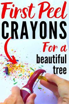 DIY Melted Crayon Ornaments in 4 Easy Steps! Easy Christmas Ornaments, Christmas Fun, Christmas Decorations, Christmas Things, Hanging Ornaments, Christmas Balls, Melting Crayons, Mason Jar Crafts, Flower Crafts