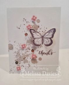 Stampin Up! Best of Butterflies Anniversary Exclusive stamp set by Melissa Davies @ rubberfunatics Stampin Up! Best of Butterflies Anniversary Exclusive stamp set by Melissa Davies @ rubberfunatics… Stampin Up, Butterfly Cards, Flower Cards, Cute Cards, Diy Cards, Karten Diy, Stamping Up Cards, Sympathy Cards, Card Tags