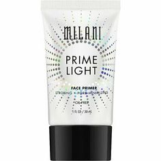 Enhance your complexion with a universally flattering glow. Milani Prime Light Strobing + Pore-Minimizing Face Primer blurs the look of pores and fine lines with soft focus pigments for brighter, smoother skin. Get Rid Of Pores, Minimize Pores, Drugstore Primer, Drugstore Makeup, Milani Cosmetics, Pore Strips, Formula Cans, Shrink Pores, Face Primer