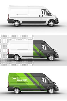 Delivery Van Mockup 12 set This set includes 6 perspectives in 6 PSD Files. Show your brand in a professional way. Ci Design, Your Design, Jumper, Vehicle Signage, Simple Camera, Photorealistic Rendering, Van Wrap, Cargo Van, Camera Shots
