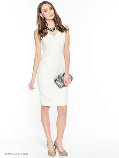 Платье INCITY. Цвет молочный.