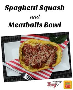 Spaghetti Squash and Meatballs Bowl on Having Fun Saving and Cooking