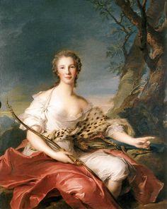 Madame Bouret as Diana 1745 Nattier Jean-Marc @museothyssen Madrid #DonneEAbiti @alecoscino @AdrianaCioci @biagio96