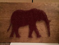 Elephant nail string art by KTPuniqueboutique on Etsy