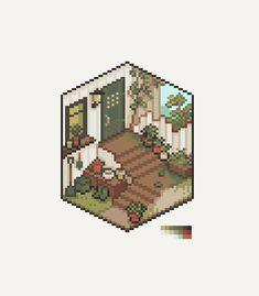 Pixel Life, Arte 8 Bits, Cool Pixel Art, Pix Art, Isometric Art, Pixel Art Games, Background Drawing, Graphic Artwork, House Drawing