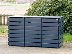 Mülltonnenbox Holz 120 Liter - New Ideas Garbage Can Storage, Garbage Shed, Bike Storage, Storage Bins, Outdoor Storage, Bin Shed, Garbage Containers, Bin Store, Trash Bins