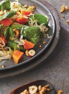Nussig-fruchtiger Sauerkrautsalat