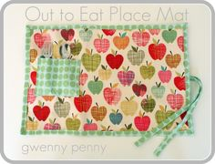 Out to eat placemat - great tutorial that protects kids from grubby restaurant tables