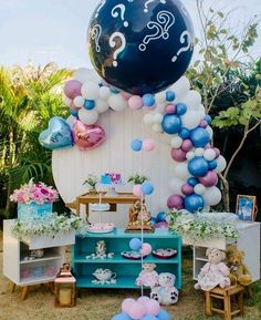 Gender Reveal Decorations, Balloon Decorations, Baby Shower Decorations, Baby Crib Bumpers, Baby Cribs, Balloons, Birthday, Party, Diy