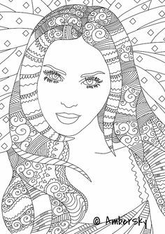 image result for adult colouring people - Colouring Pictures Of People