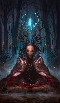 Wendigo - a cannibalistic spirit of the forest from Native American mythology