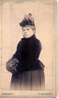 Unknown girl. Warsaw ca.1890.