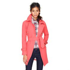 Stadium-cloth boulevard trench from J. Crew. This color is incrediballs. This needs to not be almost four hundred bucks (well, with tax.)
