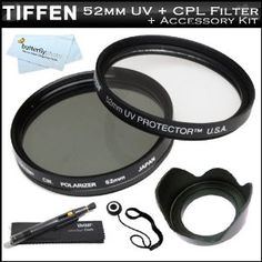 Tiffen 52mm Circular Polarizer Filter + Tiffen 52mm UV Protection Filter For Canon EF-S 60mm f/2.8 Macro USM Digital SLR Lens (0284B002) For Canon EOS DSLR Cameras + 52mm Lens Hood + Lens Cap Keeper + Lens Pen Cleaning Kit +MicroFiber Cleaning Cloth (Electronics)  http://gadget-core.com/bestseller.php?p=B006C97FC4  B006C97FC4