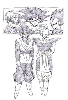 """""""Battle to decide a Black Future"""" drawn by: Young Jijii found by: #SonGokuKakarot"""