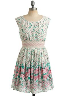 Modcloth Garden Gates Dress #modcloth #dress #smocking