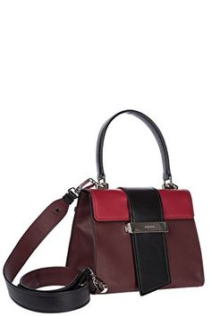 233980261c69 Prada City Calf Metal Ribbon Bag 23cm Womens Calfskin Leather Multicolor