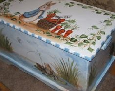 Custom Designed  Bunny Rabbit Toy Box inspired by Peterññññññlñññ