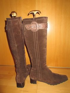 * * * Kennel + Schmenger Wildleder-Stiefel braun, Gr.37 * * * Riding Boots, Heeled Boots, Heels, Ebay, Fashion, Clothing Accessories, Ladies Shoes, Suede Boots, Heel Boot