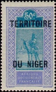 1921: Camel and Rider (ניז'ר, רפובליקה) Mi:FR-NE 15,Yt:NE 13