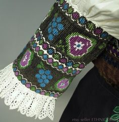 Ženský kroj z Dobrá Niva slovenských ethnicdress Folk Costume, Costumes, Velvet Skirt, Embroidered Blouse, Ethnic Fashion, Trending Outfits, Unique Jewelry, Handmade Gifts, Floral
