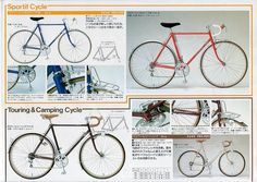 The catalogs of Japanese vintage bicycle
