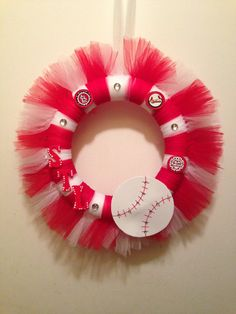 St. Louis Cardinals Tulle Wreath Made to Order by CutezyCrafts, $25.00