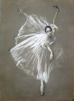 Valery Kosorukov Natalia Bessmertnova as Giselle. Pastel on Paper (via Kosorukov Studios) Valery Kosorukov Natalia Bessmertnova as Giselle. Pastel on Paper (via Kosorukov Studios) Art Ballet, Ballet Painting, Ballet Dance, Illustrations Pastel, Illustration Art, Pastel Drawing, Painting & Drawing, Dancer Drawing, Life Drawing