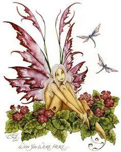 Amy Brown Fairy Art Postcard Wish You were Here Fantasy Kunst, Fantasy Art, Elves Fantasy, Amy Brown Fairies, Dark Fairies, Fairy Drawings, Kobold, Fairy Pictures, Butterfly Fairy