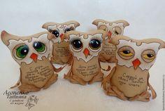 Купить Игрушка кофейная интерьерная сова - бежевый, кофейная игрушка, сова, птицы, подарок подруге