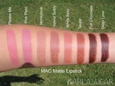 MAC Matte Lipstick - I've been debating for a while now on if I should get Velvet Teddy. I just don't think it would suit my skin tone. Kiss Makeup, Mac Makeup, Makeup Geek, Love Makeup, Makeup Kit, Makeup Addict, Makeup Products, Makeup Eyeshadow, Beauty Products