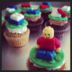 Lego cupcakes by createdbyemily https://www.facebook.com/pages/Created-by-Emily/204807809538796