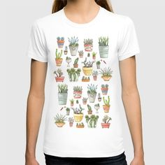 Potted+Succulents+T-shirt+by+Brooke+Weeber+-+$22.00