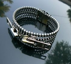 Hey, I found this really awesome Etsy listing at https://www.etsy.com/listing/108207530/industrial-bracelet-zipper-bracelet-goth