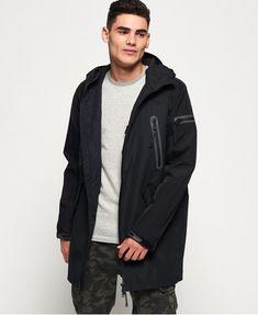 Superdry Parka in schwarz Superdry Jackets, Superdry Mens, Rain Jacket, Bomber Jacket, Windbreaker, Raincoat, Underwear, Winter Jackets, Black