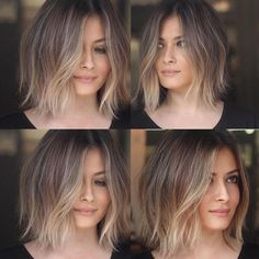 You may find here beautiful shades of balayage ombre hair colors and hairstyles for every woman to wear nowadays. This is best hair color for medium and long hair looks in recent year. Blonde Ombre Short Hair, Brown To Blonde Ombre, Ombre Hair Color, Ombre Bob Hair, Ombre On Short Hair, Bob Hair Color, Bob Hair Colour Ideas, Winter Hair Color Short, New Hair
