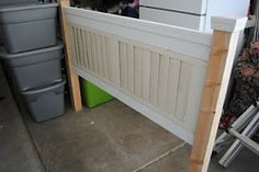 Remodelaholic   Headboard Made From A Shade!