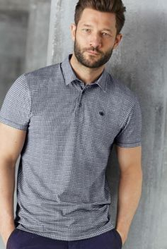 Buy Printed Check Polo Shirt from the Next UK online shop