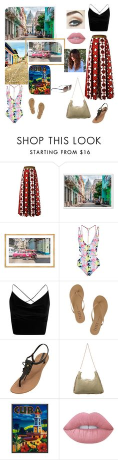 """Escape to Cuba"" by jaidenly ❤ liked on Polyvore featuring Valentino, Boohoo, Tkees, IPANEMA, STELLA McCARTNEY, Lime Crime and Vera Bradley"