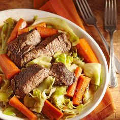 Slow-Cooked Beef and Vegetables for Two (HEALTHY)