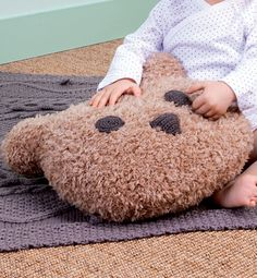 Modèle coussin ours - Livre Modèles tricot univers bébé