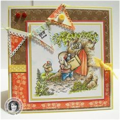 Pachela Studios Digi Stamp - Toby Tumble New Home < Craft Shop | Cuddly Buddly Crafts
