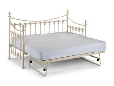 Weisses Metall Tagesbett Mit Ausziehbarem Schlafzimmerde Com Ausziehbares Bett Bett Tagesbett
