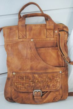 By Burin -  Channe Jeans bag - cognac